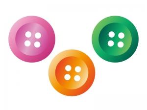 カラフルなボタンのイラスト素材