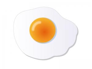 目玉焼き・朝食イラスト素材