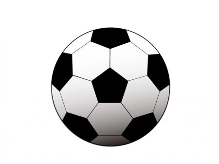 白と黒のシンプルなサッカーボールのイラスト素材
