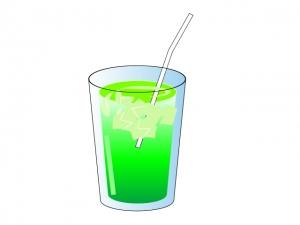 メロンソーダ・ジュースのイラスト素材