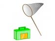 虫取り網と虫カゴのイラスト素材