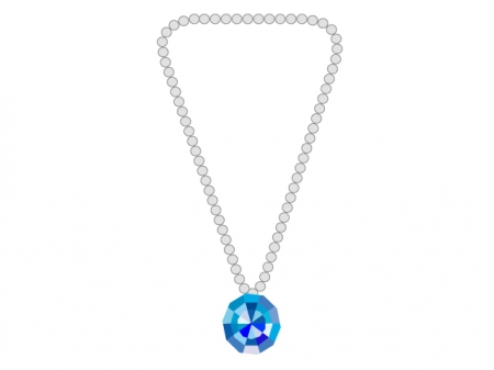 ネックレス・宝石のイラスト素材