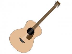 アコースティックギターのイラスト素材