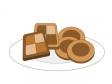 チョコレートクッキーのイラスト素材
