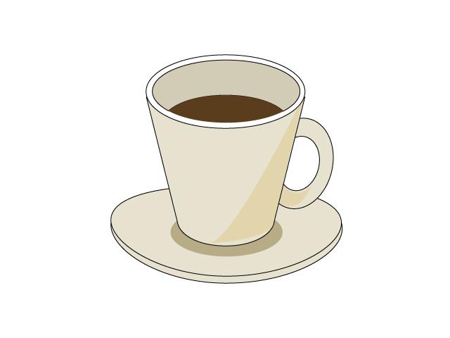 コーヒーが入ったコーヒーカップのイラスト素材