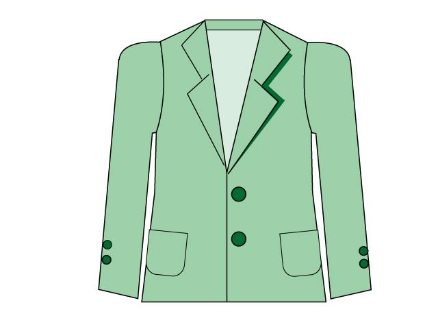緑色のジャケットのイラスト素材