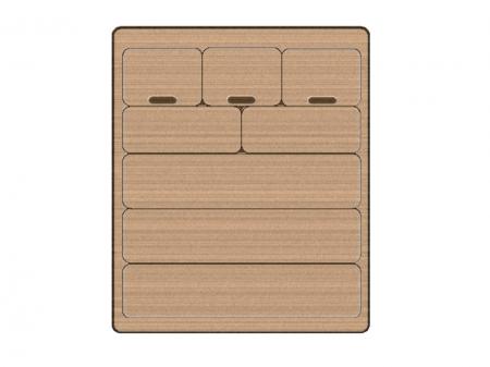 木のタンスのイラスト素材