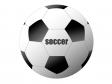 白と黒のシンプルなサッカーボールのイラスト素材02