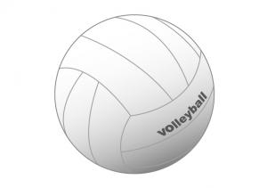 シンプルな昔ながらのバレーボールのイラスト素材