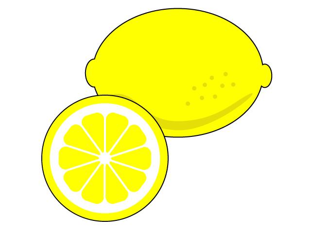 カットしたレモンのイラスト素材