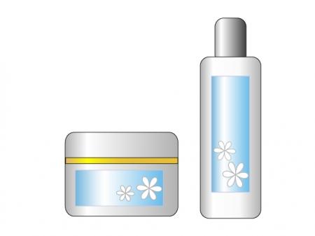 化粧水とクリームのイラスト素材