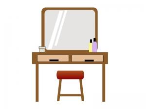 化粧台・鏡台のイラスト素材