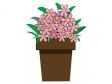花鉢のイラスト素材