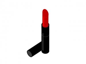 真っ赤な口紅・化粧品イラスト素材
