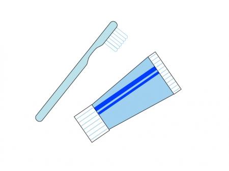 歯ブラシと歯磨き粉のイラスト素材