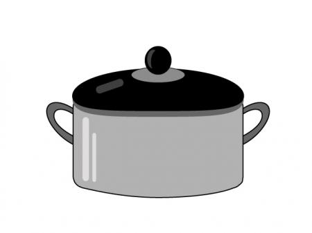シンプルな鍋のイラスト素材