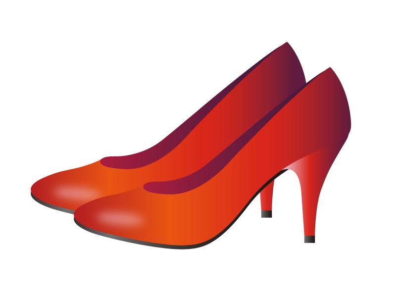 赤いハイヒールのイラスト素材