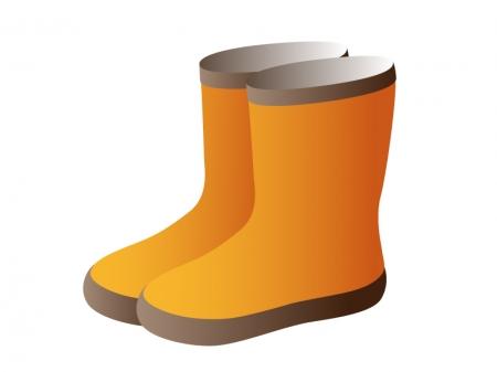 オレンジ色の長靴のイラスト素材