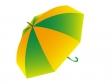 黄色と緑色の傘(パラソル)のイラスト素材