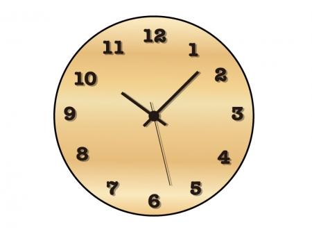 木製の掛け時計のイラスト素材
