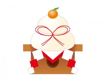 鏡餅・お正月・年賀状イラスト素材