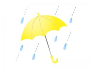 傘と雨のイラスト素材