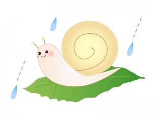 カタツムリと梅雨のイラスト素材