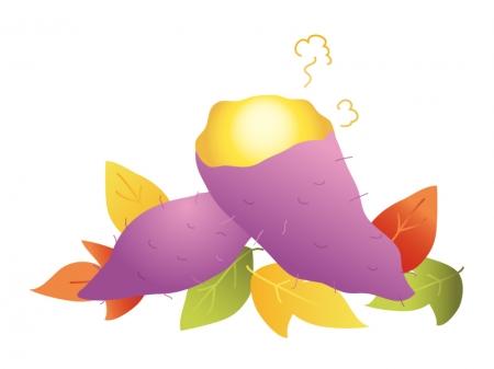 すべての講義 12月 塗り絵 : 焼き芋・落ち葉のイラスト素材 ...