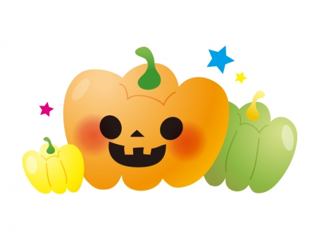 かぼちゃ・ハロウィンのイラスト素材