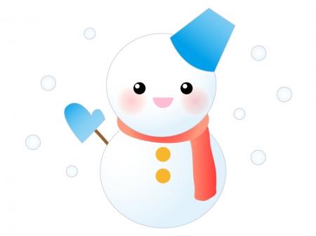 雪だるま・冬のイラスト素材