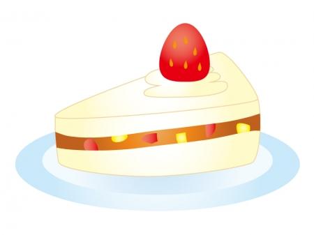 いちごのショートケーキのイラスト素材