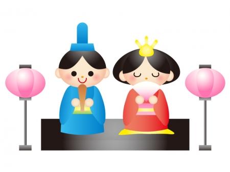 カレンダー カレンダー 六曜 2014 : お雛さま・雛祭りのイラスト ...