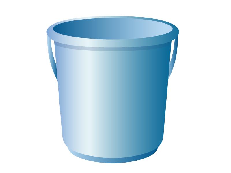 青いバケツのイラスト素材