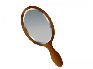 手鏡のイラスト素材