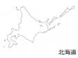北海道の白地図のイラスト素材