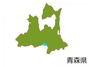 青森県の地図(色付き)のイラスト素材