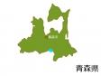青森県と青森市の地図イラスト素材