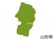 山形県と山形市の地図イラスト素材