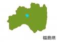 福島県の地図(色付き)のイラスト素材