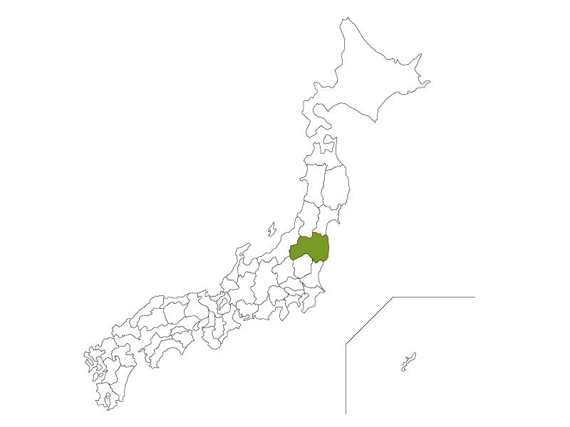 日本地図と福島県のイラスト