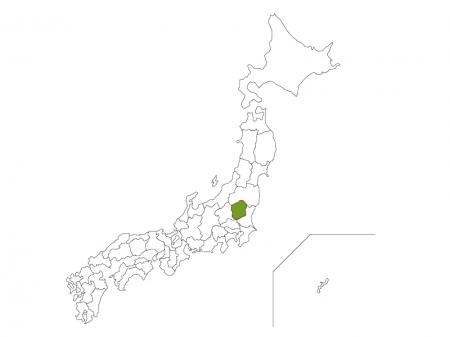 日本地図と栃木県のイラスト