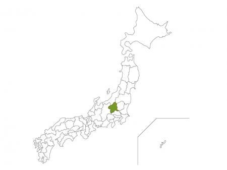 日本地図と群馬県のイラスト