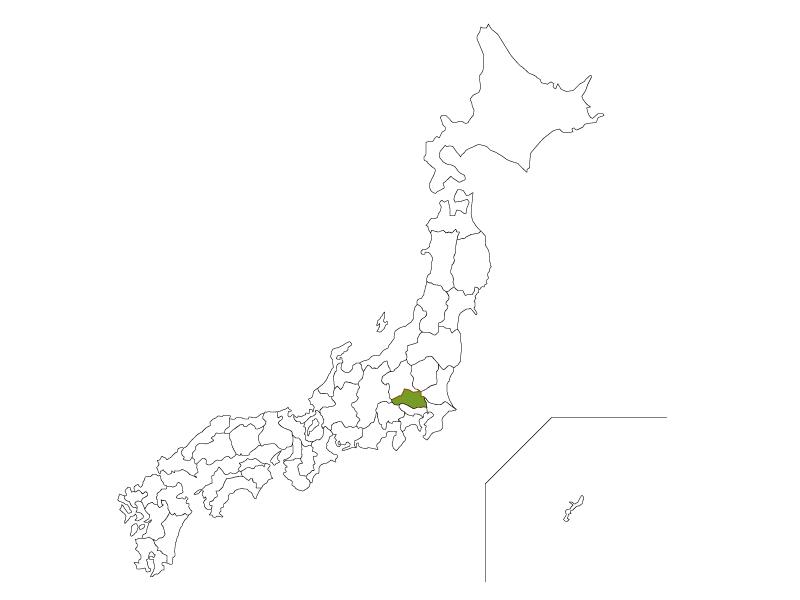 日本地図と埼玉県のイラスト