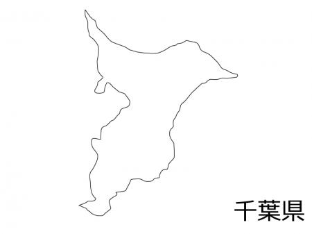 千葉県の白地図のイラスト素材