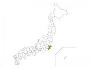 日本地図と千葉県のイラスト