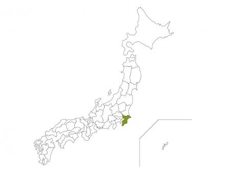 日本地図と千葉県のイラスト