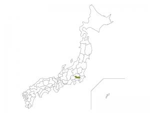 日本地図と東京都のイラスト