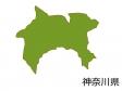 神奈川県の地図(色付き)のイラスト素材