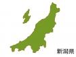 新潟県の地図(色付き)のイラスト素材