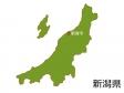 新潟県と新潟市の地図イラスト素材
